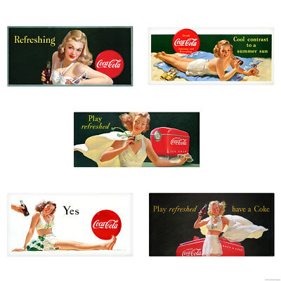 Coca-Cola Bathing Beauty Girls Play Refreshed Wall Decal Set of 5
