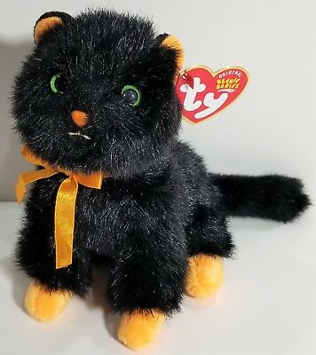 "TY Beanie Babies ""JINXY"" the Black HALLOWEEN Cat - MWMTs! HTF Ty Store Exclusive"