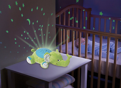 New ! Summer Infant Slumber Buddies Elephant Night Light Baby Nursery Projector