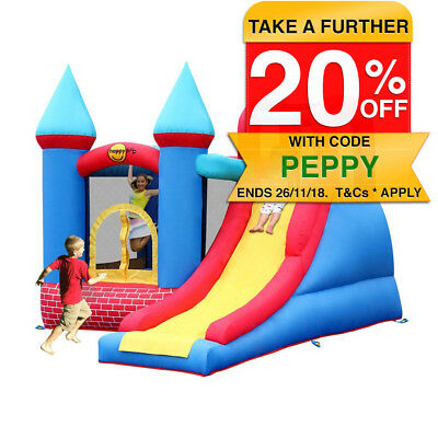 Happy Hop Airflow Inflatable Red Bricks Jumping Castle/Bouncer Outdoor Fun/Games