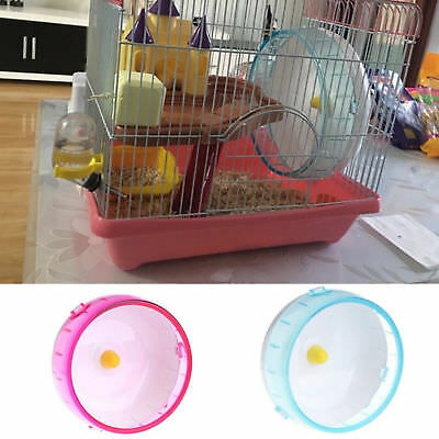 14cm Plastic Silent Hamster Mouse Rat Mice Exercise Running Wheel Pet Toy AU
