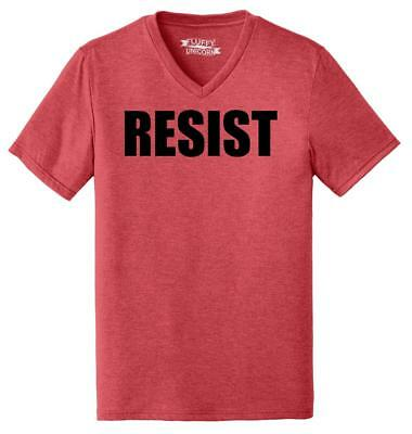 Mens Resist Tee Anti Donald Trump Political Protest Trump Rally Tee Triblend