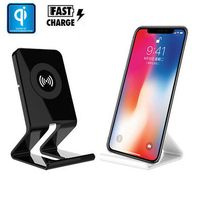 New Fast Qi Wireless Charger Stand Pad Charging Dock For Apple iPhone X 8/8 Plus