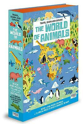 The World of Animals Book&Puzzle - Junior Free Shipping!