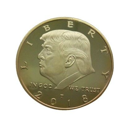 2018 Trump Commemorative Coin Plated Bitcoin Bit Virtual Coin Collectors Gifts