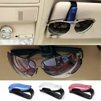 32888d02545 Car Sun Visor Glasses Clip Auto Sunglasses Ticket Card Holder Pen Eyeglass  Mount