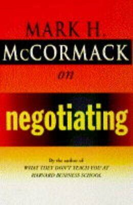 McCormack on Negotiating by McCormack, Mark H. Hardback Book The Cheap Fast Free