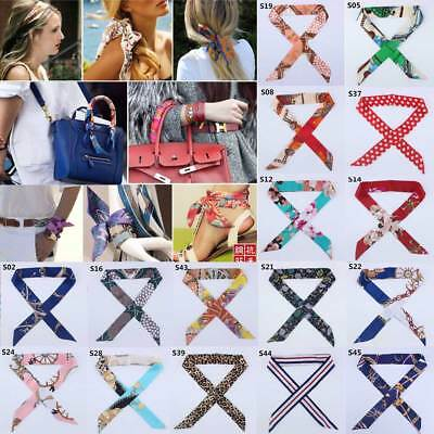 Fashion Women Scarves Twilly Ribbon Tied The Bag Handle Decoration Ribbon Scarf