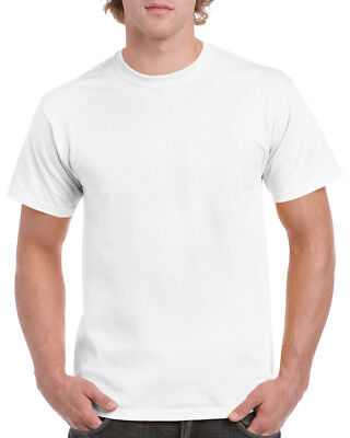 GILDAN WHITE Heavy Cotton T Shirt MENS PLAIN T-SHIRT: S M XL XXL 3XL 4XL 5XL