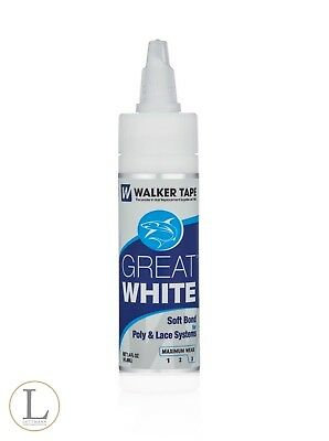 Great White 41,4 ml Bonding Kleber WALKER TAPE Perücken & Toupets 3 - 5 Weeks +