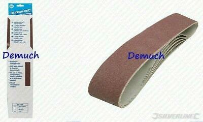 New 5 Pack 80 Grit SANDING BELTS 100 x 915mm Compatible with Draper Belt Sander