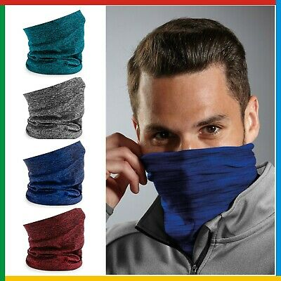 Beechfield Morf Spacer Marl, 3 in 1 Scarf Snood Headwear polyester microfibre