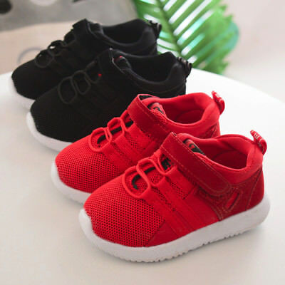 Toddler Kids Sport Running Baby Shoes Boys Girls Soft Soled Mesh Shoes Sneakers