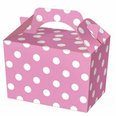 10 Pink Polka Dot Food-Lunch Boxes - Parties - Weddings