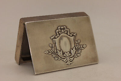 Antique Original Perfect Russian Silver 84 Hallmark Strong Cigarette Case