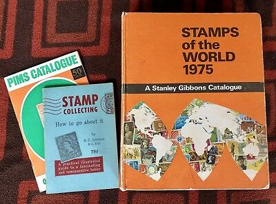 Stamps of the World 1975 - Gibbons, Stanley, Plus Two Collectors Books.