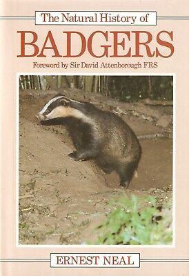 NEAL ERNEST WILDLIFE BOOK THE NATURAL HISTORY OF BADGERS hardback NEW