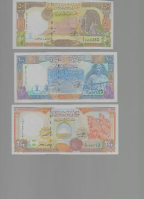 Syria - 50-1000 Pounds 1997-1998 - Pick 107-111 - UNC