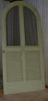 "French Arched Door Shutters Custom Hardwood 90"" x 41.5"""