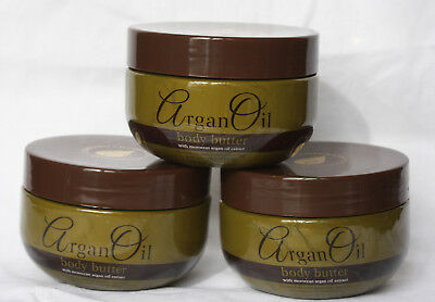 3 x Argan Oil Body Butter = With Moroccan Argan Oil Extract - 3 x 250ml