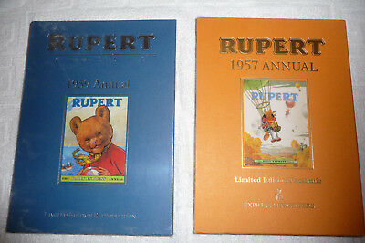 Rupert Limited Edition Facsimilie Annuals 1957 &1959 - Both Unused, One Sealed
