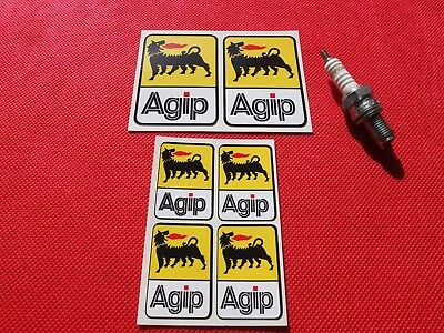 Set of  6 Agip stickers