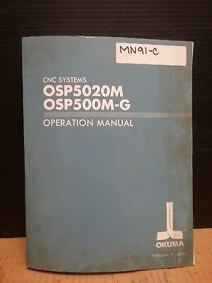 Okuma Operation Manual OSP5020M OSP500M-G CNC Systems 3610-E-R2_ 3rd Edition