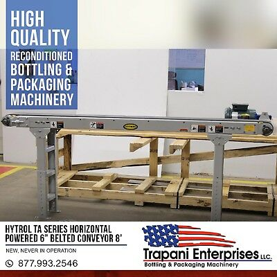 "Hytrol TA Series Horizontal Powered 6"" Belted Conveyor 8' 115V In Crate"