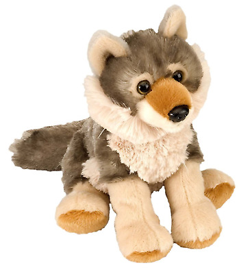 "Wild Republic Cuddlekins 8"" Wolf Plush Soft Toy Cuddly Teddy 10852"