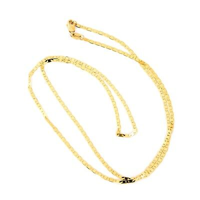 Beauniq Solid 14k Yellow Gold 1.7mm Mariner Chain Necklace, 18""