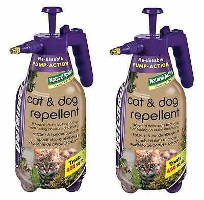 2 x Defenders STV624 Cat & Dog Repeller 1.5L Pump Action Spray Bottle