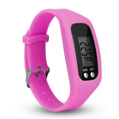 Pink Lcd Pedometer Wrist Watch Bracelet Sport Calorie Step Walking Counter