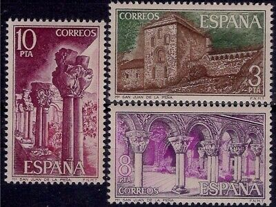 Spain 1975 Monastery Middle Ages Romanesque Architecture Building Religion MNH