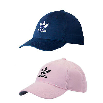 Adidas Men s Originals Precurved Washed Strapback Hat   Cap NEW Pink OR Navy 88f994e9fb6