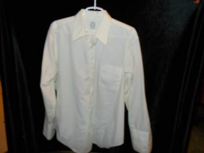 Vintage Men's Arrow Cum Laude Decton Tapered White Dress Shirt Size 17 33