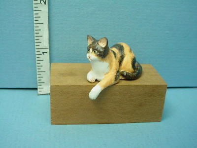 Miniature Resting Calico Cat  #A62T Falcon 1/12th Scale Resin Made