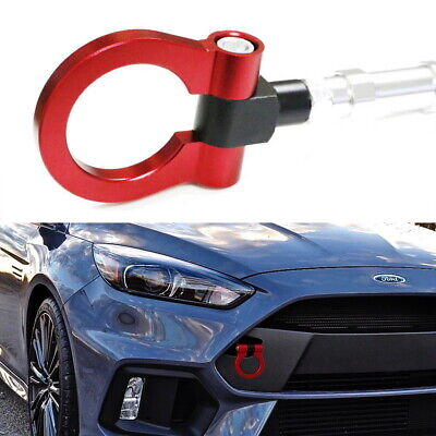 Sports Red Track Racing Style Tow Hook Ring For 2016-up Ford Focus RS ONLY