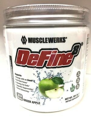 Musclewerks DeFine8 Thermogenic Fat Burner Pre-Workout 30 Srv FREE SHIP