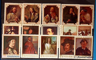 Romania Painting Paintings Set Of Stamps Lo242