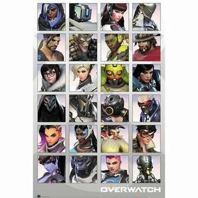Overwatch Characters Gaming Poster