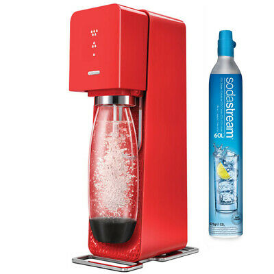 Soda Stream Red Source Element Home Soft Fizzy Bubble Drinks Maker Sodastream