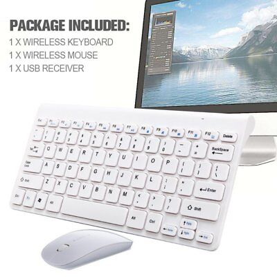 Ultra Slim 2.4GHz Wireless Keyboard With Mouse Mice Kit Set For PC Computer US