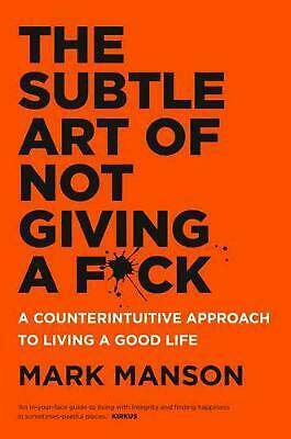 The Subtle Art of Not Giving a Fuck Fck F*ck Fk Paperback Book by Mark Manson