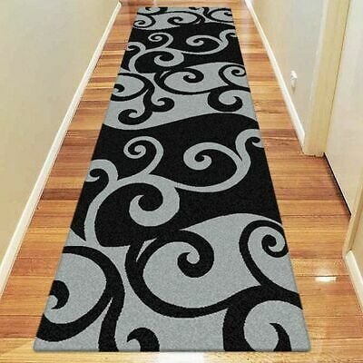 NEW Saray Rugs Smoke Swirl Modern Runner Rug in Beige, Black, Brown, Red