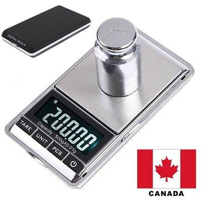 500g x 0.01g Mini Pocket Digital Weight Electronic LCD Jewelry Scale Canada