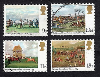 1979 Horse Racing Paintings SG 1087 to 1090 set Fine Used