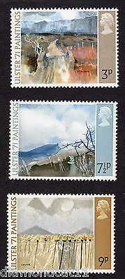 1971 Ulster 1971 Paintings SG 881 to 883 set MNH R14976