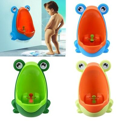 Baby Kid Children Potty Urinal Toilet Training Boy Bathroom Frog Pee Trainer US