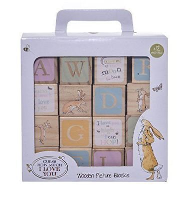 Guess how much i love wooden blocks christening new baby gift nursery decoration