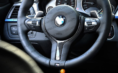 BMW M Sport REAL Carbon Fibre Steering Wheel Trim 1 2 3 4 5 6 Series X5 X6